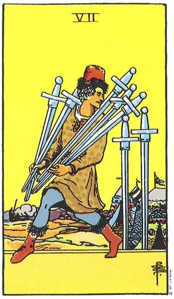 карта таро 7 мечей