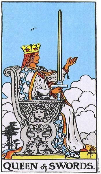 Королева (Дама) Мечей - значение и толкование карты Таро