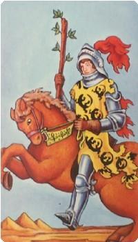 рыцарь жезлов в отношениях